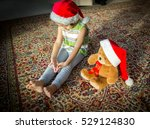 little boy with his cute teddy...   Shutterstock . vector #529124830
