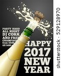 vector new year banner or... | Shutterstock .eps vector #529128970