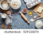 dough preparation recipe bread  ... | Shutterstock . vector #529133074