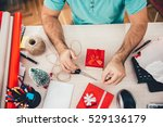 man sitting at the office desk... | Shutterstock . vector #529136179