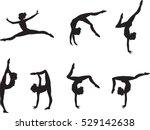 set of elegant gymnast's...