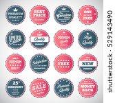 vector illustration of vintage... | Shutterstock .eps vector #529143490