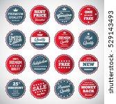vector illustration of vintage... | Shutterstock .eps vector #529143493