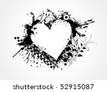 grungy heart for valentine day  ...