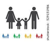 family icon. set of icons | Shutterstock .eps vector #529151986
