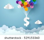 dollar sign hanging with... | Shutterstock .eps vector #529153360