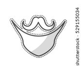 mustache and beard icon over... | Shutterstock .eps vector #529155034