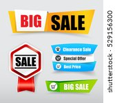 collection of web tag banner... | Shutterstock .eps vector #529156300
