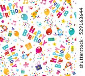 happy birthday wrapping paper... | Shutterstock .eps vector #529163644