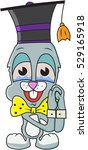 cute rabbit boy being emotional ... | Shutterstock .eps vector #529165918