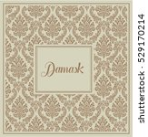 damask background brown with... | Shutterstock .eps vector #529170214