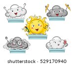 mascot illustration featuring... | Shutterstock .eps vector #529170940