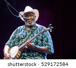 BYRON BAY, AUSTRALIA - MARCH 27 :Taj Mahal plays on the Jambalaya stage at the 2016 Byron Bay Bluesfest. 27th annual Blues and Roots festival. - stock photo
