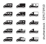 various types of vans and... | Shutterstock .eps vector #529173910