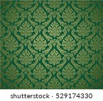 damask background green ... | Shutterstock .eps vector #529174330