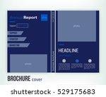 business brochure cover design... | Shutterstock .eps vector #529175683