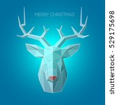 blue ice head deer.... | Shutterstock .eps vector #529175698