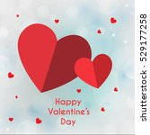 valentines day paper heart... | Shutterstock .eps vector #529177258