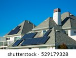 Solar Panels On Roof Of...