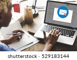 e mail popup warning window | Shutterstock . vector #529183144
