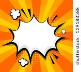 blank yellow orange comic text...   Shutterstock .eps vector #529183588