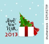 happy new year 2017 greeting... | Shutterstock .eps vector #529192759