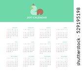 calendar 2017 for a year ... | Shutterstock .eps vector #529195198