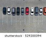 empty parking lots  aerial view. | Shutterstock . vector #529200394