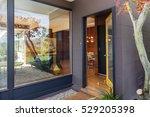 open front door with large... | Shutterstock . vector #529205398