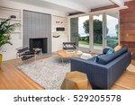 elegant wooden designer... | Shutterstock . vector #529205578