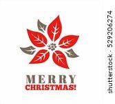 christmas graphic symbol.... | Shutterstock .eps vector #529206274
