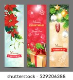 christmas vertical banners with ... | Shutterstock .eps vector #529206388