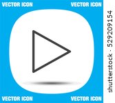 play button sign line vector...