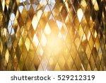 shining golden mosaic glass... | Shutterstock . vector #529212319