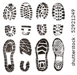 shoes prints | Shutterstock . vector #52921249