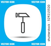 hammer vector line icon. repair ...