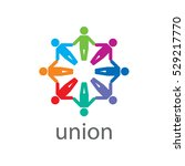 vector logo union | Shutterstock .eps vector #529217770