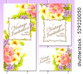 romantic invitation. wedding ... | Shutterstock . vector #529220050