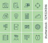 set of 16 project management...   Shutterstock .eps vector #529224346