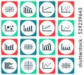 set of graphs  diagrams and... | Shutterstock .eps vector #529239643