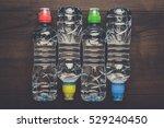 plastic water bottles with caps ...   Shutterstock . vector #529240450