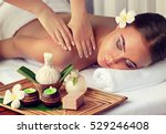 body care. spa body massage... | Shutterstock . vector #529246408