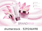 lotus essence  cleanser and... | Shutterstock .eps vector #529246498