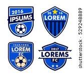 football logo badges set... | Shutterstock .eps vector #529248889