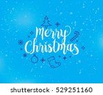 merry christmas text design....   Shutterstock .eps vector #529251160