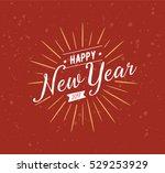 happy new year 2017 text design.... | Shutterstock .eps vector #529253929
