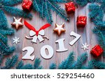 happy new year background with... | Shutterstock . vector #529254460