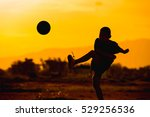 kids are playing soccer... | Shutterstock . vector #529256536