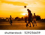 kids are playing soccer... | Shutterstock . vector #529256659