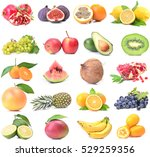 fresh fruit | Shutterstock . vector #529259356